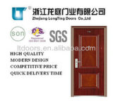 Steel Security Door with Heat Transfer-Printing (LTT-073)