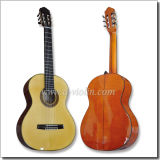 "39"" Spruce Wood Solid Flamed Maple Flat Back Spanish Neck Joint Classical Guitar (ACH140)"