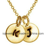 Initial Letter Charm Fashion Necklace