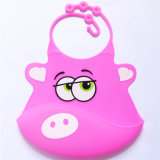 Cartoon-Graphic BPA Free Silicone Baby Bibs for Kids Summer Wear