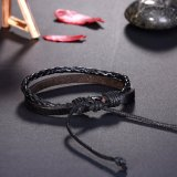 Handmade Fashion Jewelry Braided Unisex Leather Bracelet