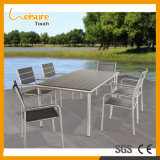 Best Home/Hotel/Restaurant Garden Furniture Exquisite Medium-Sized Dining Table Set with Anodized Aluminum Wicker Plastic Wood Textilene Outdoor Furniture