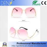 Metal Flat Lens Vintage Fashion Mirrored Oversized Sunglasses