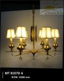 Crystal Raindrop Embossing Fabric Shade Droplight Chandelier Lamp-Living Room