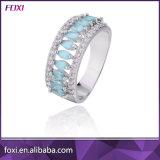 Brazil Design Fashion Glass Stone Brass Finger Rings for Women