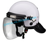 Police Equipment White Europe Style Anti Riot Security Helmet