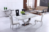 Hot Sale Marble Top Dining Table with Stainless Steel Base