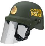 Police Helmet Full Face with Flat Visor