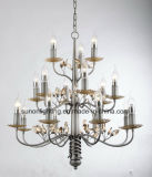 3 Layer Dubai Decorative Wrought Iron Crystal Chandelier