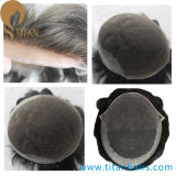 Undetectable Bleach Knots Indian Remy Hair French Lace Toupee
