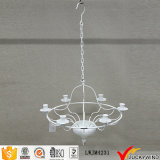 Ceiling Hanging White Vintage Chandelier Candle Holder