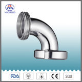 Sanitary Stainless Steel Pipe Fitting: 90 Degree Male Nut Type Elbow (SMS-No. NM013441)