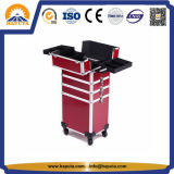 Red Hairdresser Aluminium Makeup Cosmetic Trolley Case (HB-3320)