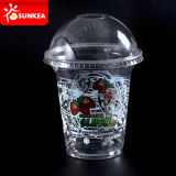 Clear Smoothie Plastic Cup with Dome Lids