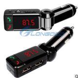 New Wireless Bluetooth Car Kit Hands-Free FM Transmitter USB Car Charger Kit