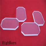 Clear Fused Quartz Glass Plate with Cutting Edges