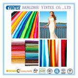 Real Heavy Shiny 100% Polyester Satin Fabric for Wedding Dress