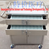 Emergency Stainless Steel Emergency Trolley Hospital Medicine Sending
