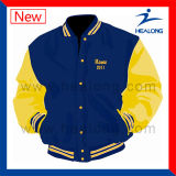 Healong ODM Service Clothing Gear Embroidery Logo Men′s Baseball Jackets for Sale