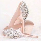 2017 Custom Made Rhinestone Crystal Pearl Shoe Clips Buckle Wedding Bridal Party Decoration