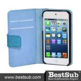 Bestsub Sublimation Personalized PU Wallet Phone Case for iPhone 4/4s (IPK27B)