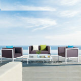 Euro-Design Comfortable Outdoor Garden Aluminum Furniture Sofa Set with Single & Double Seat 100% Waterproof (YT957)