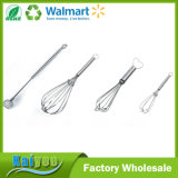 Useful Kitchen Non-Stick Stainless Steel Mini Manual Egg Whisk
