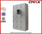 Steel Locker 15-Doors Locker Metal Dormitory Gym Wardrobe Cube Lockers Cmax-SL15-001
