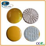 Best Sales Round White / Yellow Ceramic Cat Eye Road Stud