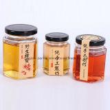 Eco-Friendly Hexagonal Honey Jam Jar Glassware with Multi-Size