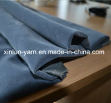 100% Polyester Flocked Pongee Fabric in China with Plain Design
