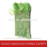 Lady Lace Decorated Cotton Sock