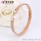 Rose Color Delicate Bangle with Synthetic CZ