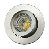 Lathe Aluminum GU10 MR16 Round Recessed Tilt LED Spotlight (LT2200)