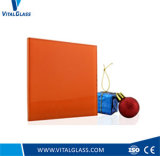 Orange Red Laminated Glass