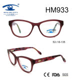 Fashion Women Acetate Optical Frame Eyeglasses (HM933)
