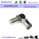 Right Angle F Type Female Connector to PAL Male Adapter