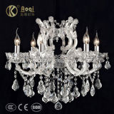 Hot Sale Chrome Clip Iron Crystal Chandelier Lamp (AQ50038-6)