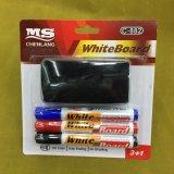 C-882 3+1 Whiteboard Marker Pen with Brush, Stationery Set