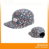 Simple Floral 5 Panel Snapback Hat