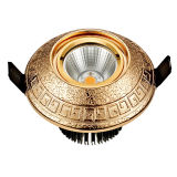 Brass Commercial Building LED Downlight with Classic Patterns