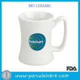 14 Oz White Custom Ceramic Diner Mug Cup