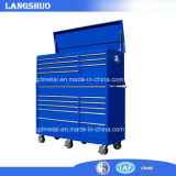 Industrial Metal Tool Cabinet/ Workbench with Drawers