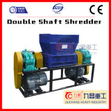 Double Shaft Shredder for Shredding Tire Plastic Glass Rubber with Ce