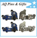 Motorcycle Metal Pin Badge with Soft Enamel and Epoxy (badge-016)