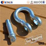 Electric Galvanized Us Type Steel Drop Forged Lifting Bow Shackle
