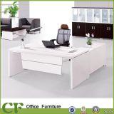 Secretary Desk, White Wooden Executive Office Desk (CD-89906)