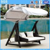 Garden Hotel Furniture Outdoor Rattan Swing Bed Swing Chair