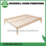 Solid Pine Wood King Platform Bed (W-B-0086)