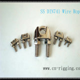 Stainless Steel DIN741 Wire Rope Clamp for Rope Loop